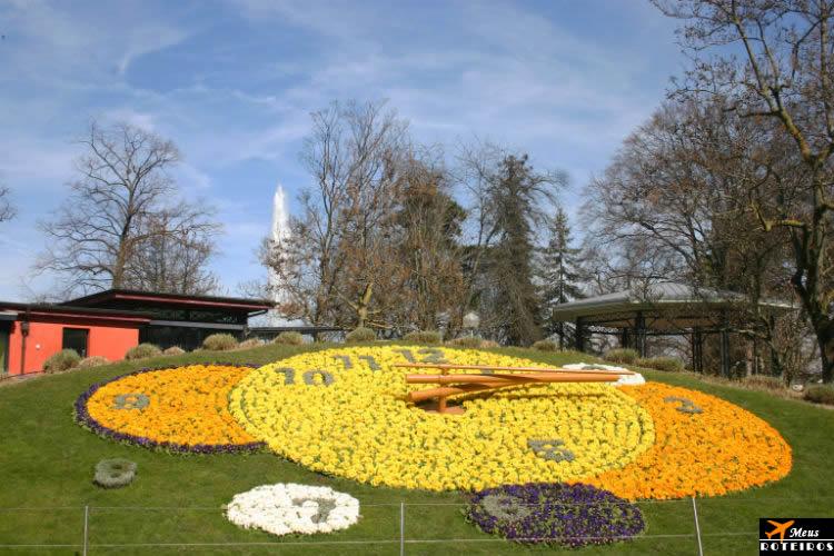 Flower Clock, Geneva (Relógio de Flores, Genebra)