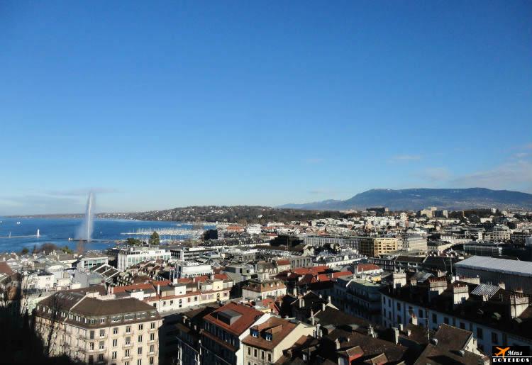 Genebra: vista da Montanha do Selève (França)