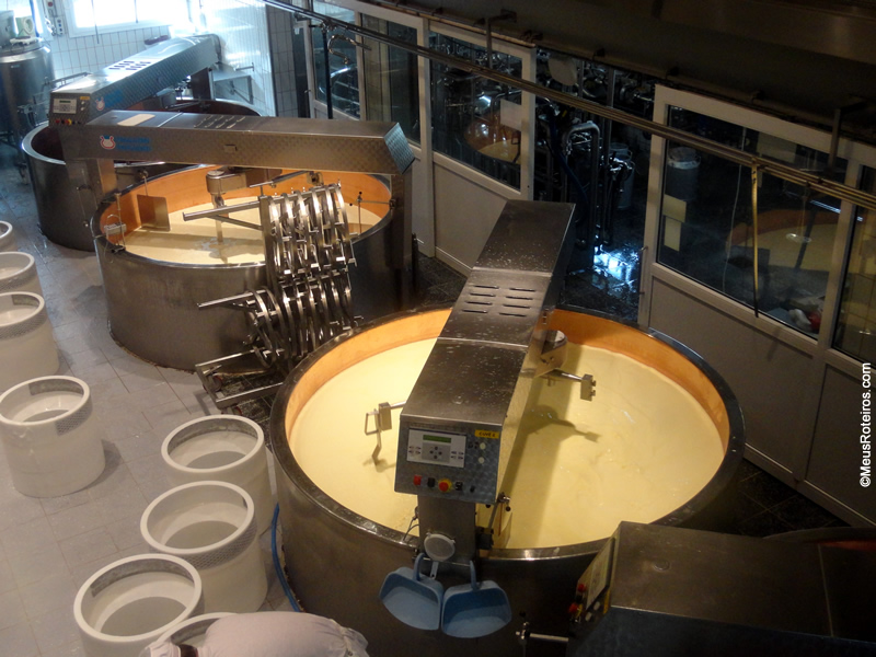 Fabricação do queijo Gruyères