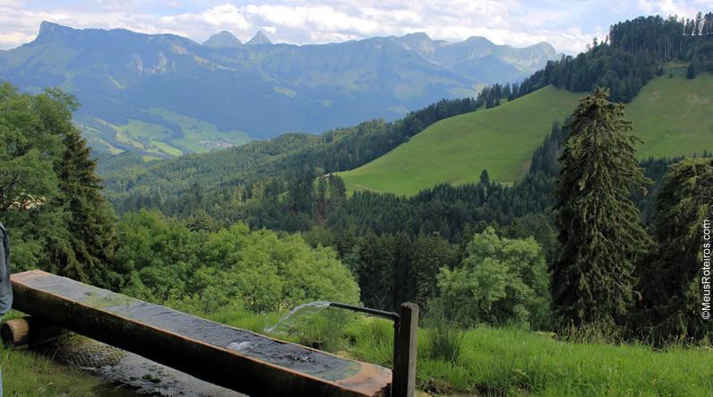 Sentier des Fromageries em Gruyères (Suíça)