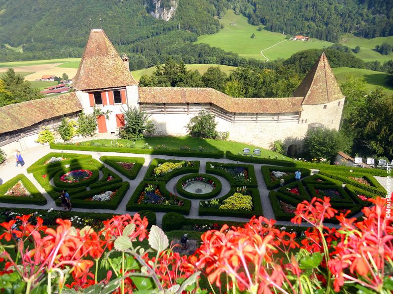 Jardim do Castelo de Gruyères