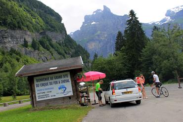 Na entrada do parque o visitante paga uma pequena taxa