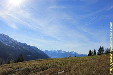 De cima era possível enxergar o vale...
