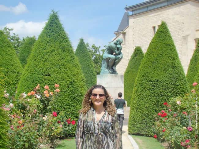 Aliny no Museu de Rodin