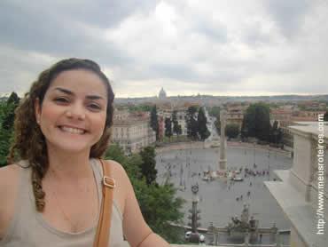 Vista da Piazza del Popolo a partir da Villa Borghese