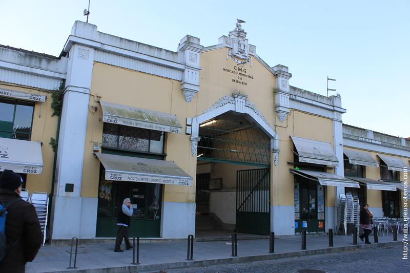 Fachada do Mercado Municipal de Nova Gaia