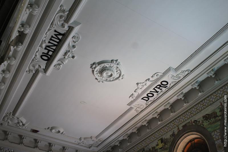 Detalhe no Teto da Estação de Trem São Bento