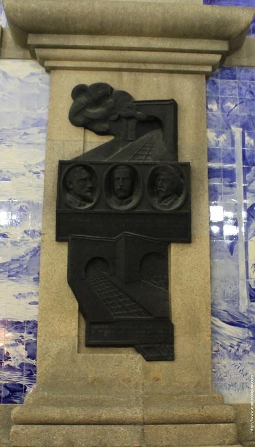 Detalhes da parte interna da Estação de Trem São Bento