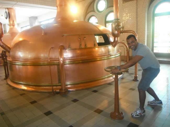Aprendendo a fazer cerveja em Amsterdã