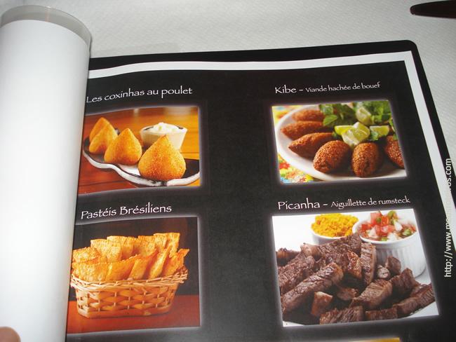 No cardápio, várias delicias da culinária brasileira