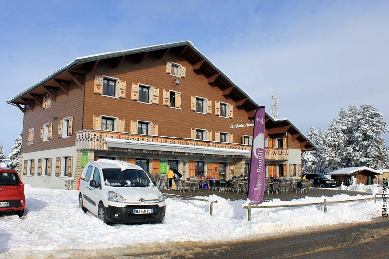 Fachada do restaurante (Plateau Le Semnoz / Haute Savoie / França)