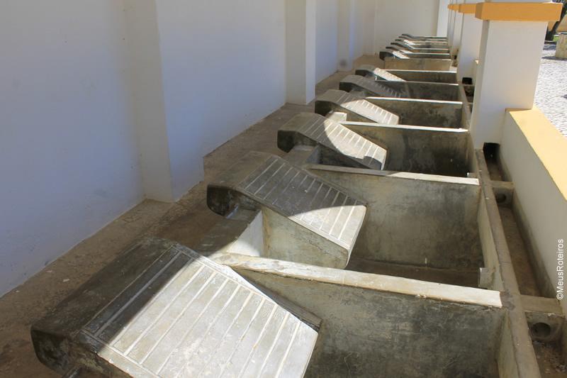 Trilha em Portugal: tanques de lavar roupa