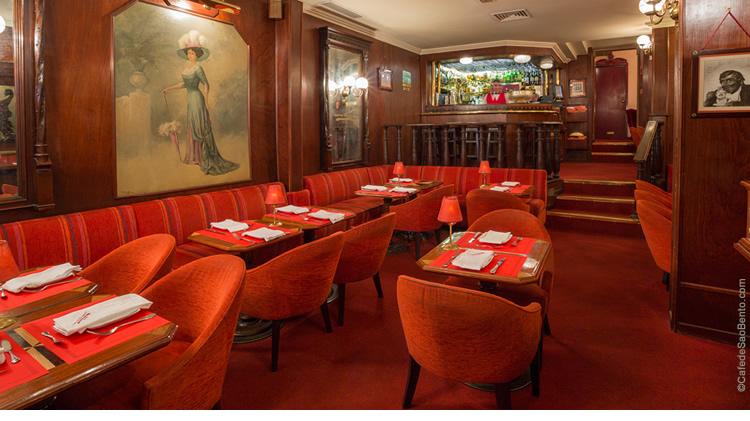 Restaurantes em Lisboa: ambientes do Café de São Bento