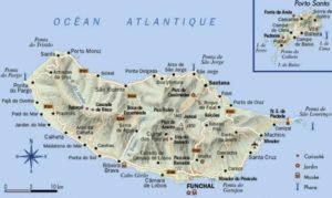 Mapa do Arquipélago da Madeira (Ilha d Madeira e Porto Santo)