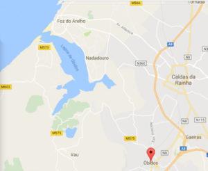 Onde fica a Lagoa de Óbidos (Mapa) - Óbidos Lagoon