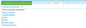 Reserva de hotel: página de resultados da Booking.com