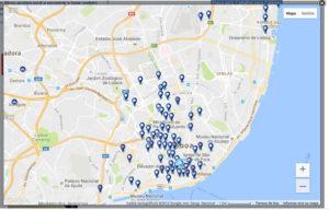 Reserva de hotel: mapa de hotéis da Booking.com
