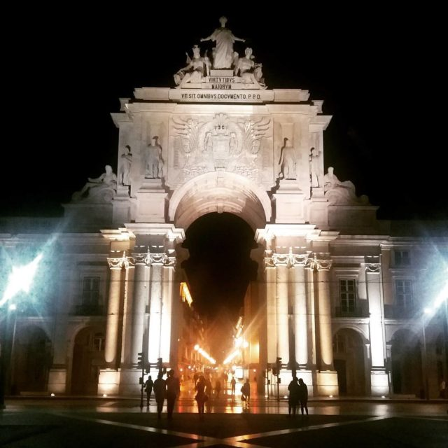 Lisbon Portugal Rua Augusta Arch is a symbol of thehellip