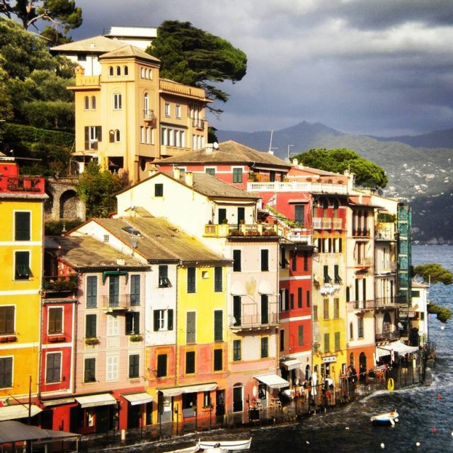 Portofino Italy Even in a cloudy day the colourful houseshellip