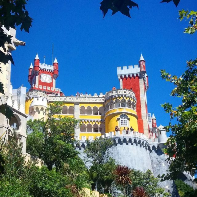Sintra Portugal The colourfull castle that stands on the tophellip