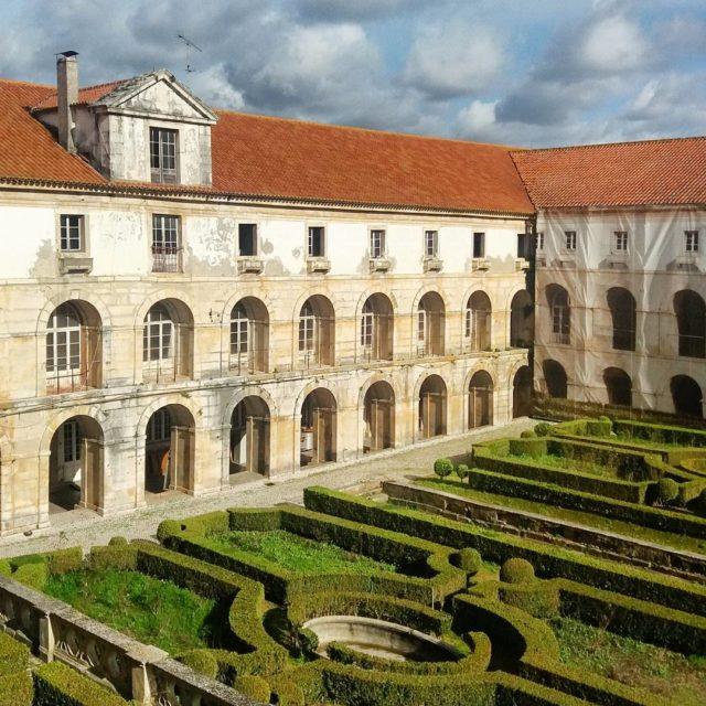 Mosteiro de Alcobaa Portugal English below Um dos jardins quehellip